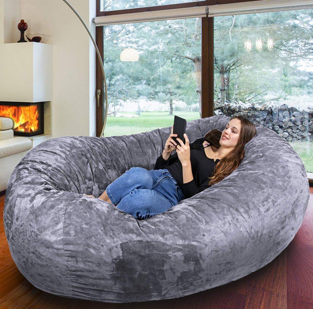Comprar Puff redondo para sala tipo sofa barato